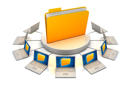 File-sharing computer network